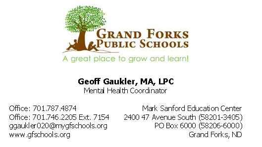 Geoff Gaukler business card