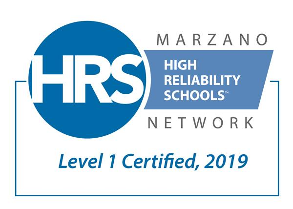 HRS High Reliability Schools Level 1 Certified